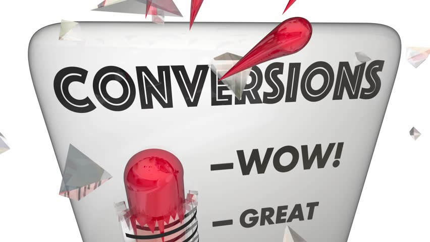 Conversions Sold Customers Closed Deals Thermometer 3d Animation