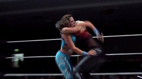 "Portsmouth - October 28: Women's Wrestling - Gladiator ""Inferno"" Pins Her Opponent during VPW Wrestling show on October 28 2010"