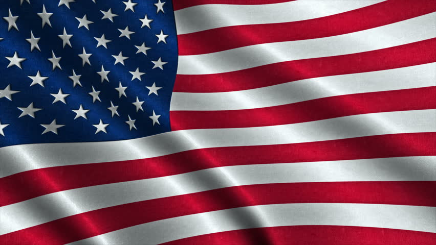 Usa American Flag Waving in Stock Footage Video (100% ...