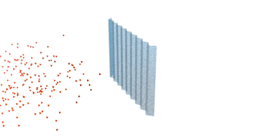 Particles separated and captured in filter . 3d animation for purification, cleaning themes. | Shutterstock HD Video #23379310