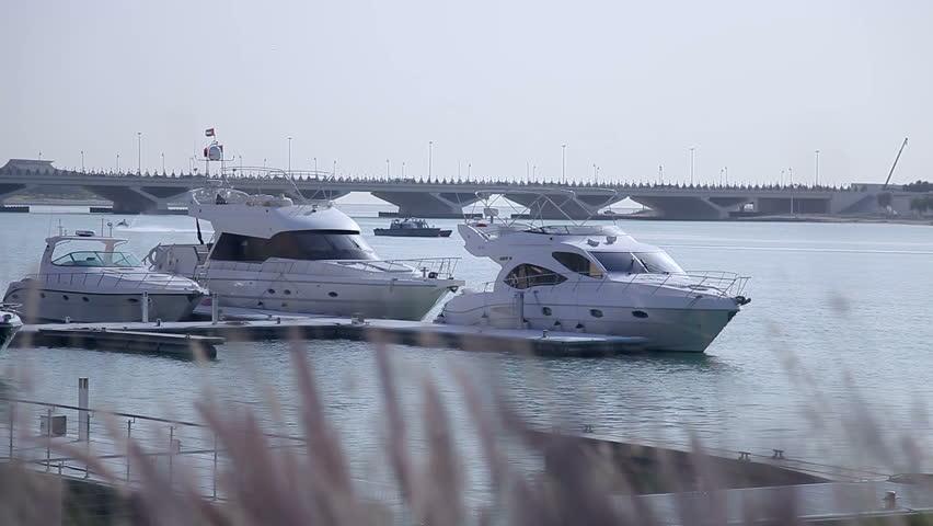 Yachts on gulf in Abu Dhabi