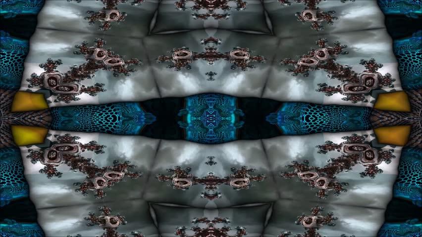 Kaleidoscopic wallpaper seamless loop animation  | Shutterstock HD Video #23464651