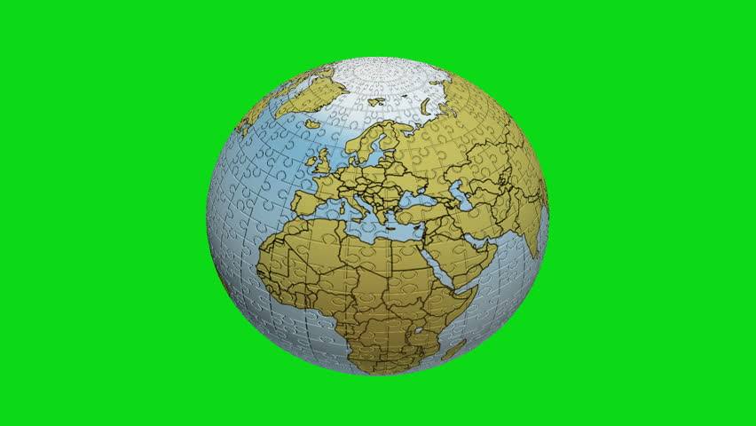Hd animation earth zoom led map green screenearth zoom led map 3d earth puzzle on green background hd stock footage clip gumiabroncs Image collections