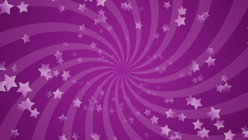 Infinite loop of purple stars background, HD CG animation.