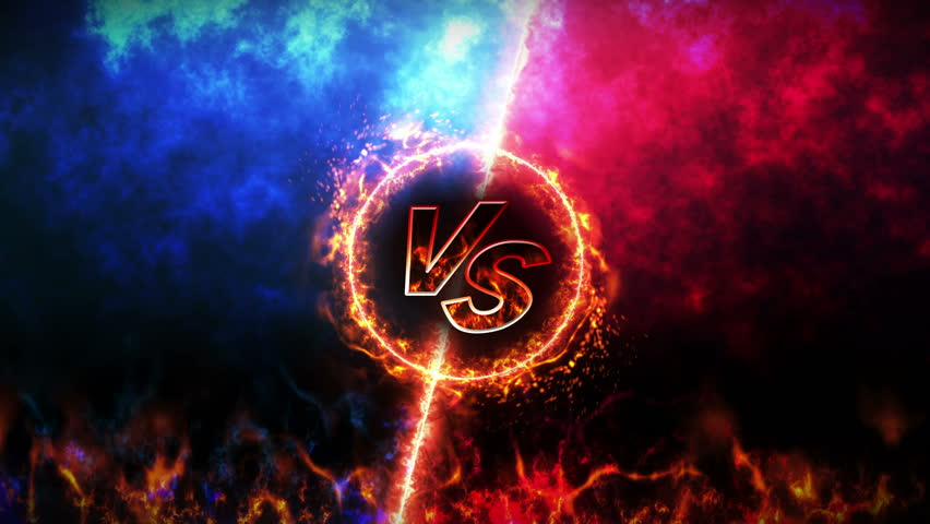 Versus fight backgrounds, VS on fire,