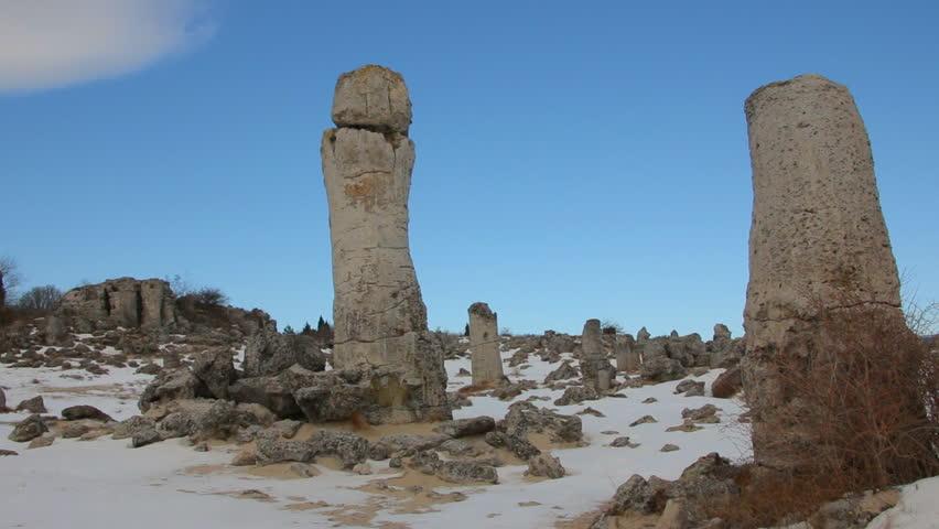 Desert Rock Pillars : The stone desert a like rock phenomenon in varna