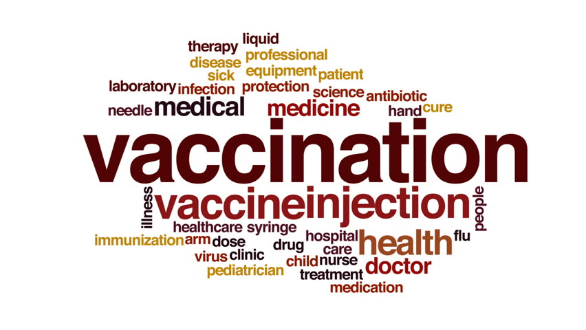 Vaccination animated word cloud, text design animation. | Shutterstock HD Video #23517121