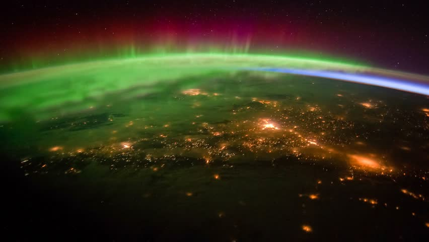 Time Lapse View Of Aurora Borealis Over Across Southwest Canada At Night From Thee In