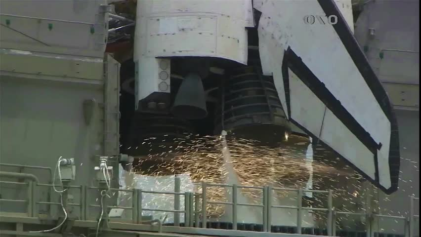 rocket ignition and launch to space.