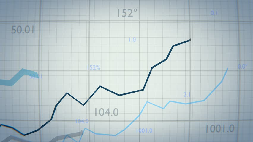 Statistics concept. Growing financial charts and diagrams showing increasing profits.