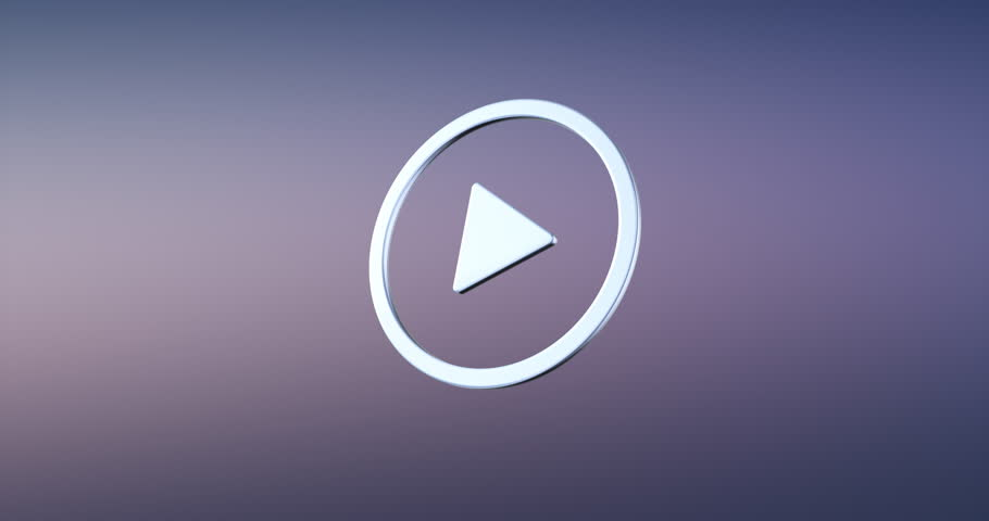 Stock Video Clip Of Red Play Icon Button Logo Symbol Animation