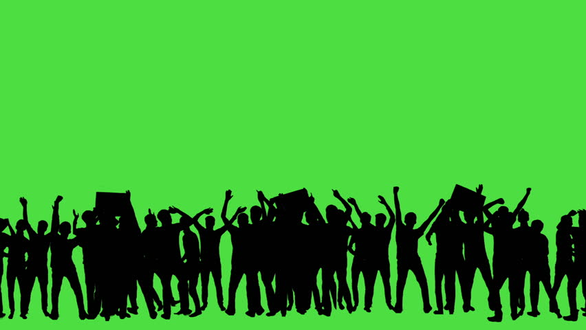 Crowd of fans dancing on green screen. Concert, Jumping, Dancing, Hands up. #23566030