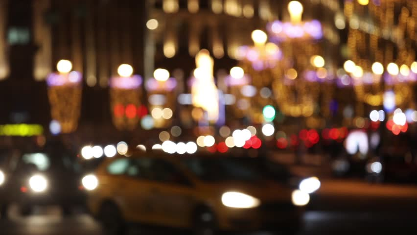 Night city lights and traffic background. Out of focus background with blurry unfocused city lights   Shutterstock HD Video #23571430