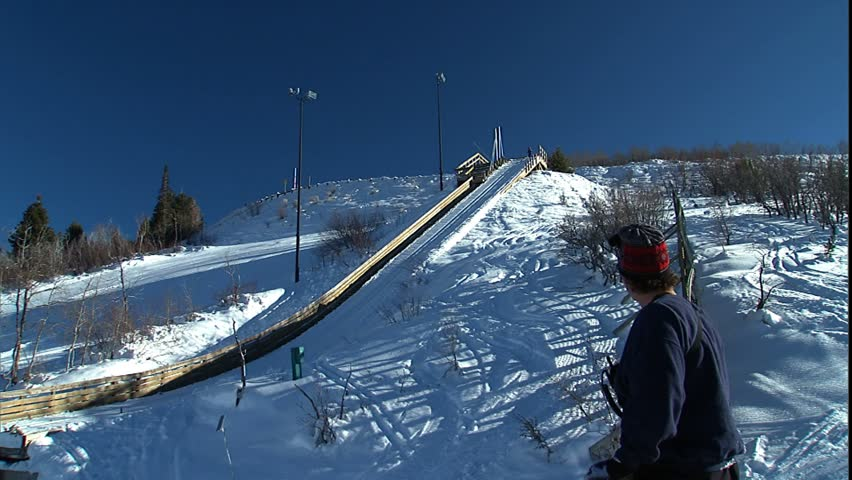 PARK CITY, UT - CIRCA 2004: Training on low ski jumps at park city.