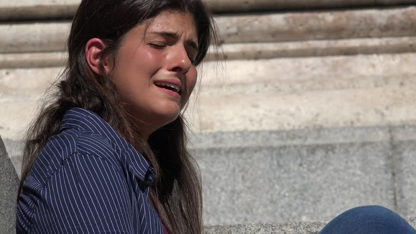 Sad And Crying Woman