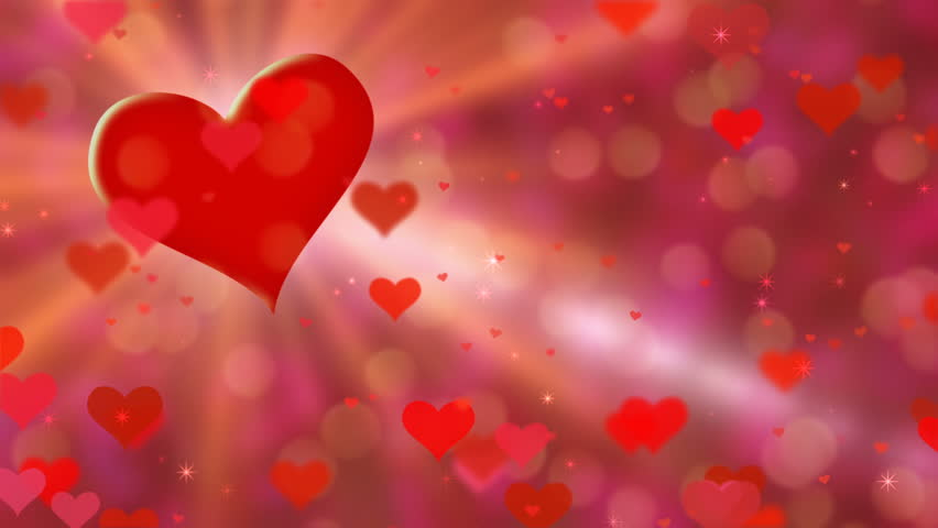 4K. Red Hearts For You - Love, Valentine\'s Day. Ultra High ...