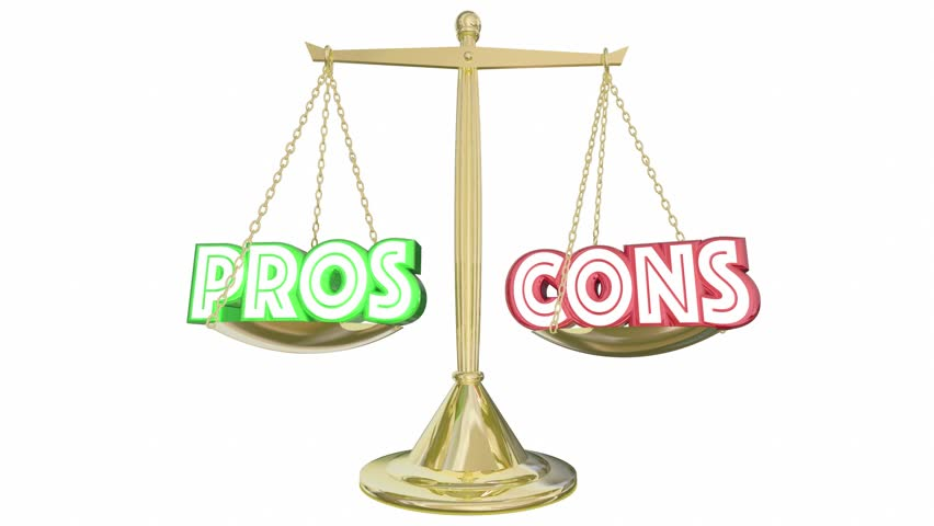 Pros Cons Scale Compare Positives Negatives 3d Animation