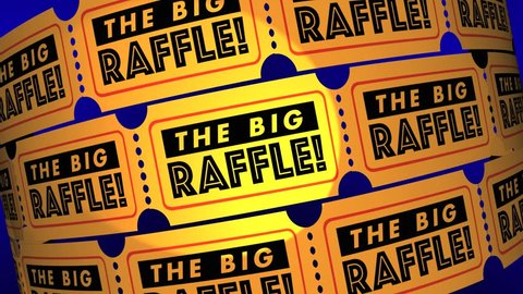 The Big Raffle Contest Win Prize Get Tickets 3d Animation