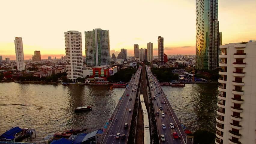 Bangkok by drone. | Shutterstock HD Video #23841220