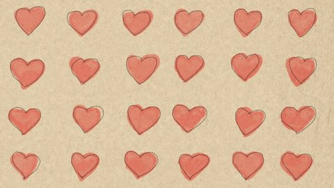 Heart and love background animation, easily editable or cut into loops, with room for a special text message.