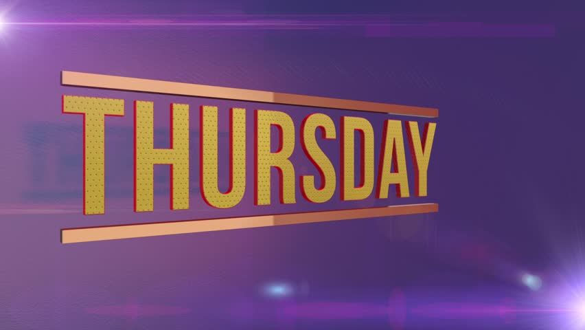 Thursday event lively energetic broadcast television internet motion graphic. | Shutterstock HD Video #23883340