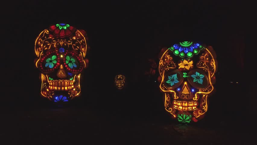 Day of the dead pumpkin skulls 4k