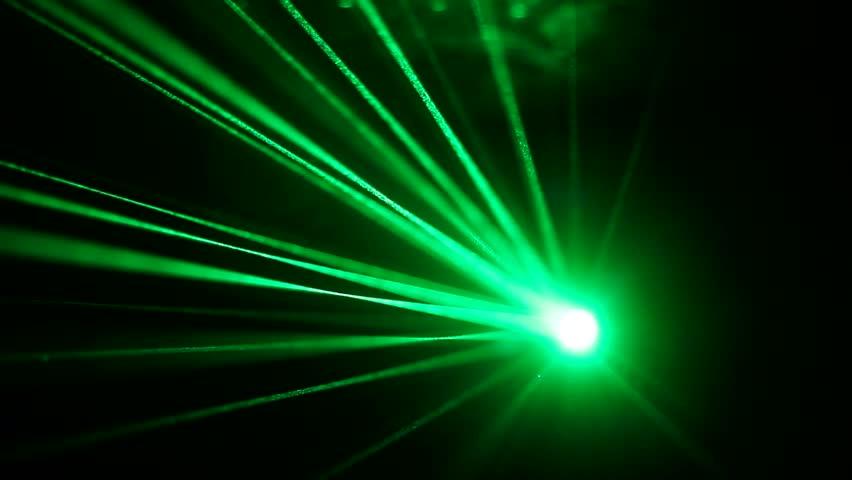 Laser Lights On The Dance Floor In A Nightclub Strobe Light Shines Rays Dark Background Stock Footage Video 23907400