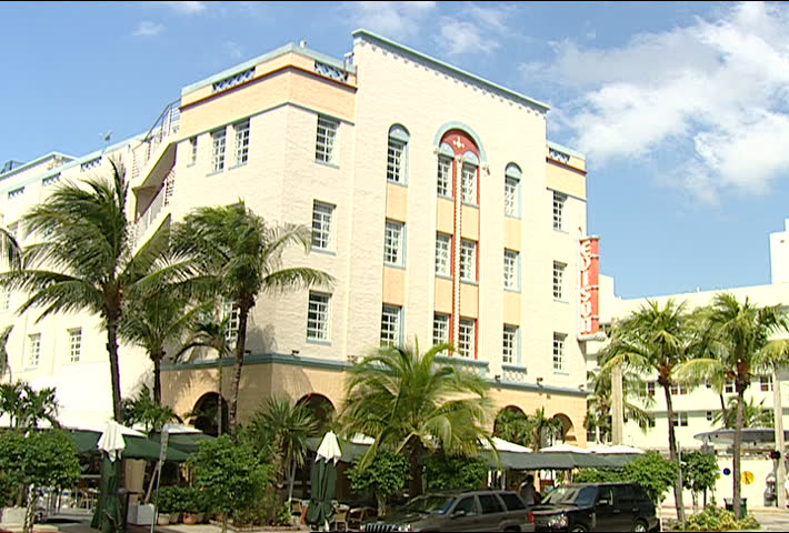 Miami Circa 2002 Edison Hotel On Ocean Drive In South Beach Florida The Is One Of Art Deco Style Hotels That Famous For
