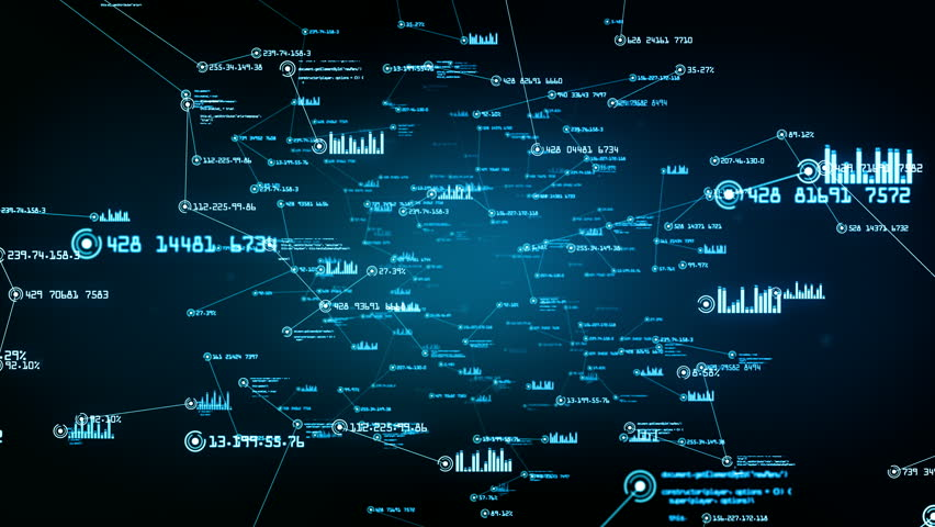 Data and network connections. You can use it for a technology, communication or social media background. Available in multiple versions. Green-Blue color. Seamless loop. 4K | Shutterstock HD Video #24035881