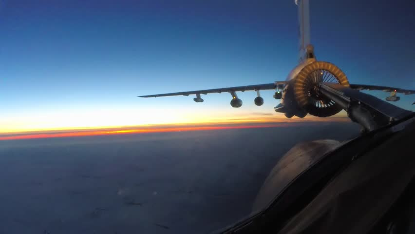 The end of the night refueling in the air | Shutterstock HD Video #24040210