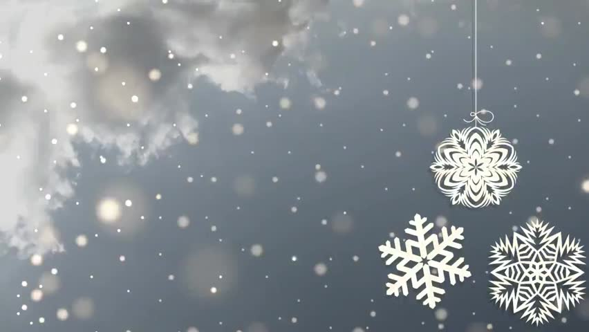 Golden Snowflakes And Blinking Computer Generated Seamless