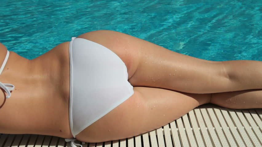 Dolly Bikini Body Sunbathing Stock Footage Video 2405759 -7949