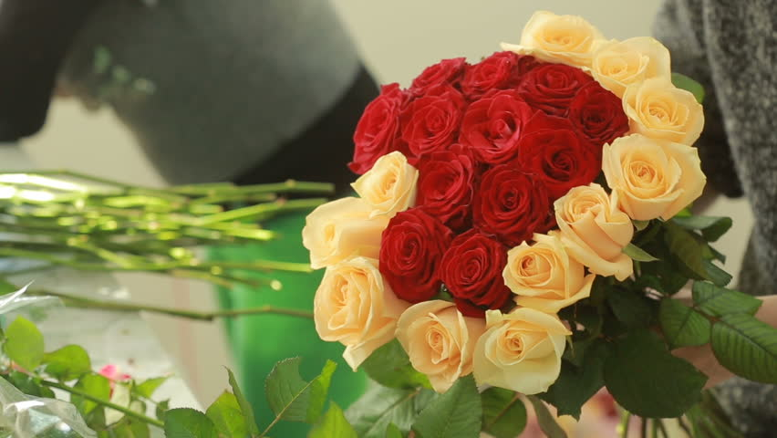 Bright Colorful Bouquet Of Red Stock Footage Video 100 Royalty