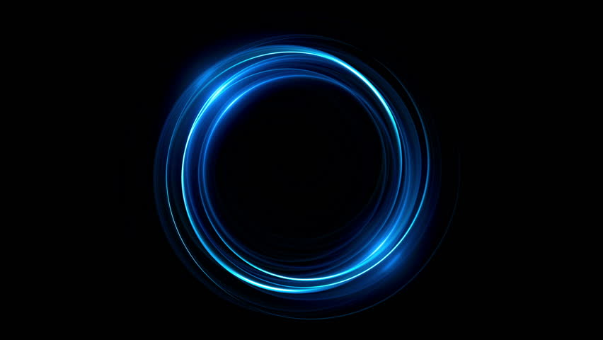 Abstract neon background. Shine ring. Halo around. Sparks particle.  Space tunnel. LED color ellipse. Glint glitter. Shimmer loop motion.  Empty hole. Glow portal. Blue ball. Slow spin. Bright disc.