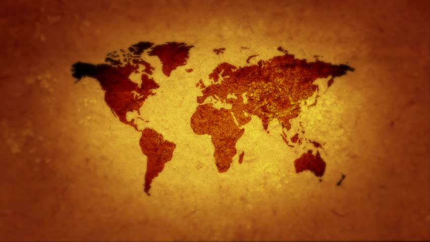 Vintage map of the world old paper background with earth map the world is on the brink of war 4k stock video clip gumiabroncs Gallery