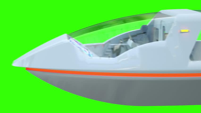 Futuristic passenger flying bus. Transport of the future. Green screen 4K animation.   Shutterstock HD Video #24144715