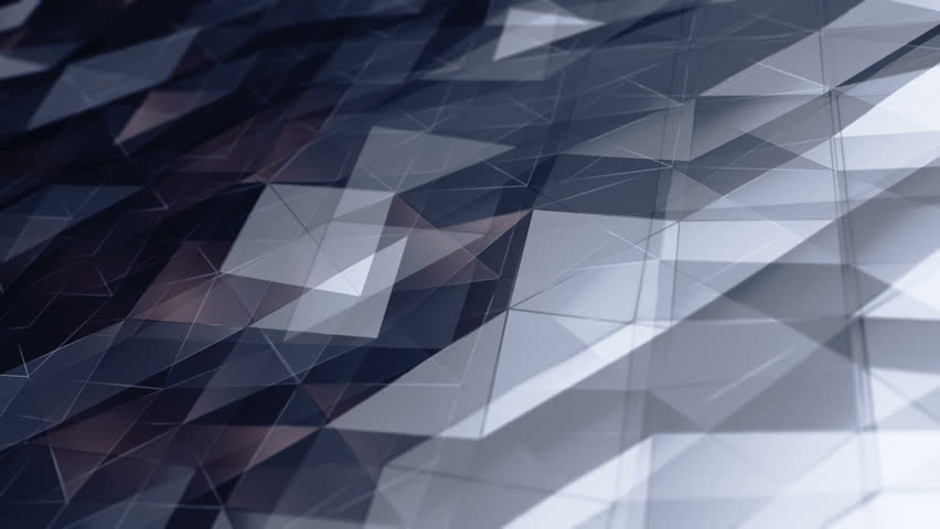 Abstract background with animation of waving smooth polygonal surface from glass, chrome or plastic. Good technological backdrop. Animation of seamless loop. | Shutterstock HD Video #24150589