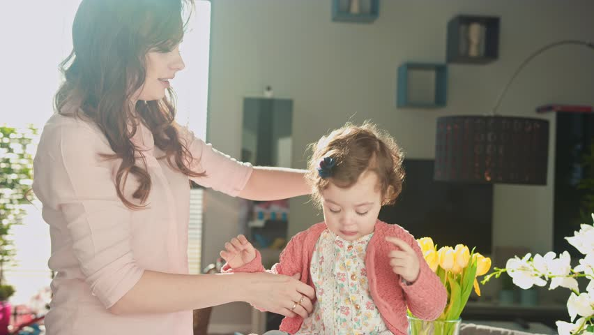 Rude little girl with her mother | Shutterstock HD Video #24170020