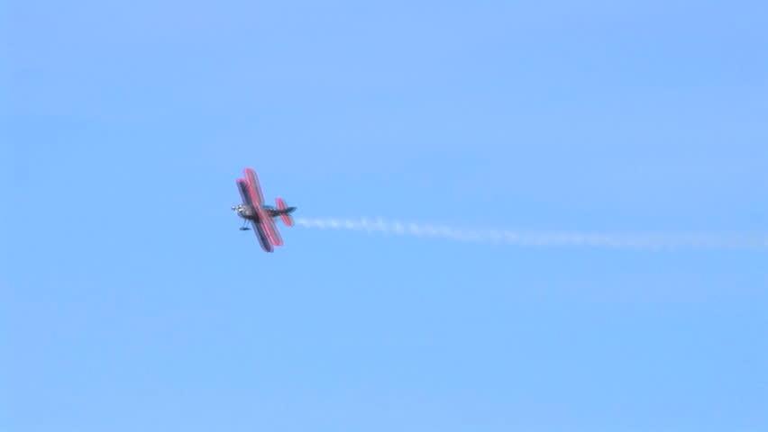 Biplane Trails Smoke