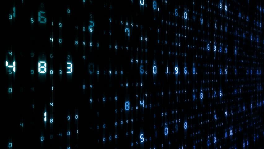 Digital world data space number text. | Shutterstock HD Video #24202570
