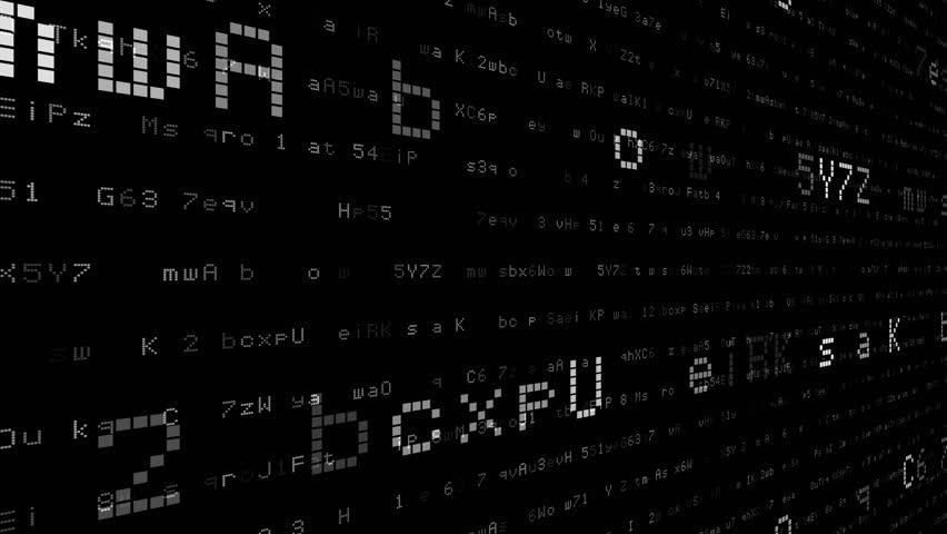 Digital world data space number text.   Shutterstock HD Video #24202750