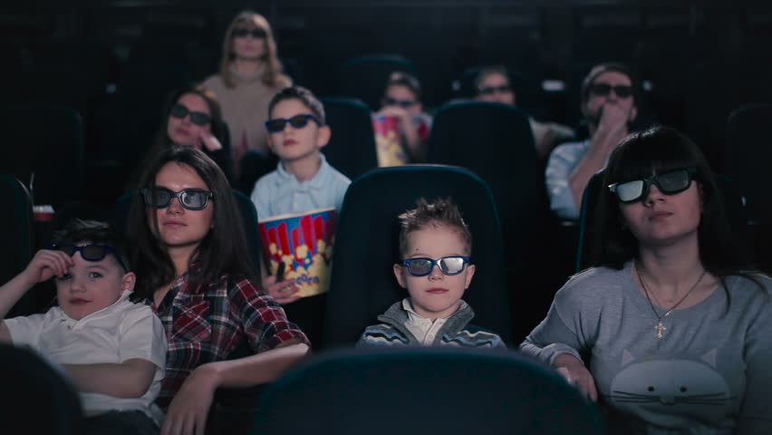 People watching the film in the cinema | Shutterstock HD Video #24223300