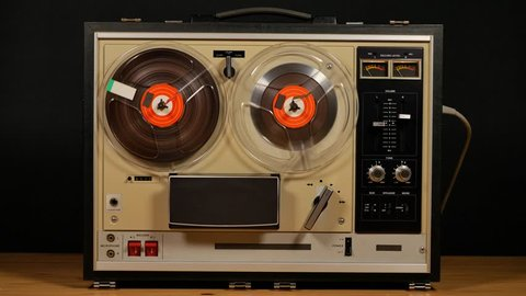 Audio tape recorder, tape deck or tape machine, analog audio storage device