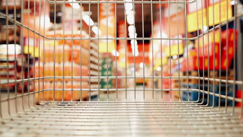 Shopping cart moving through store   Shutterstock HD Video #24298418