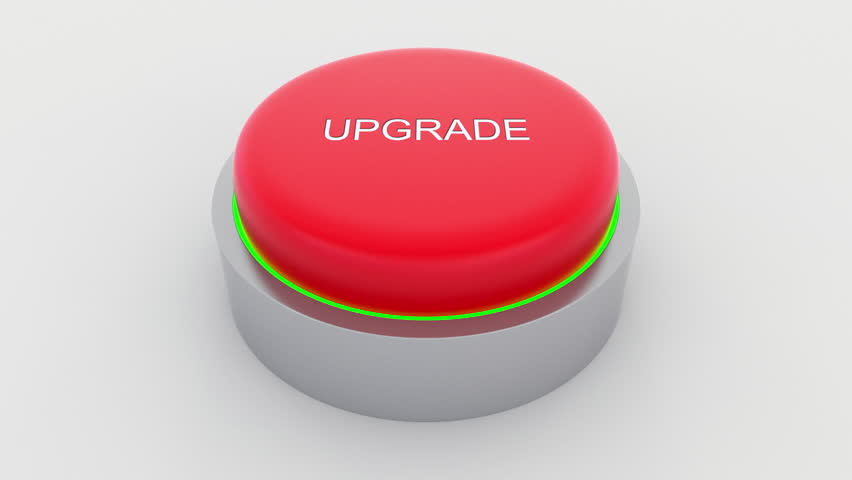 Big red button with upgrade inscription being pushed. Conceptual 4K clip | Shutterstock HD Video #24301388