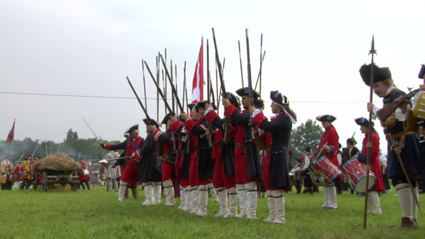STAFFARDA, ITALY - CIRCA JUNE 2012: Historical reenactment of Battle of Staffarda fought during Nine Years' War in Piedmont-Savoy (northern Italy) between Louis XIV and Duke of Savoy army on August 18, 1690.