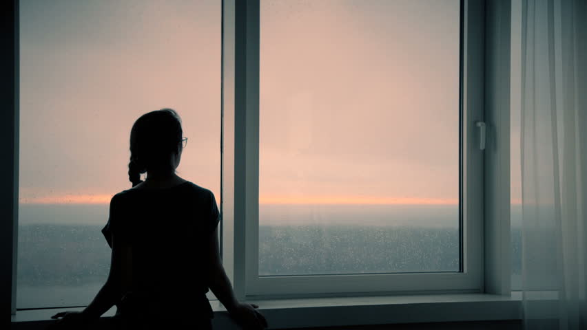 Image result for rain looking out the window silhouette