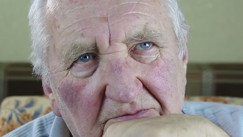 Elderly, Old, Mature Man Close Up Portrait Raw Video Record Stock Footage Video -4942