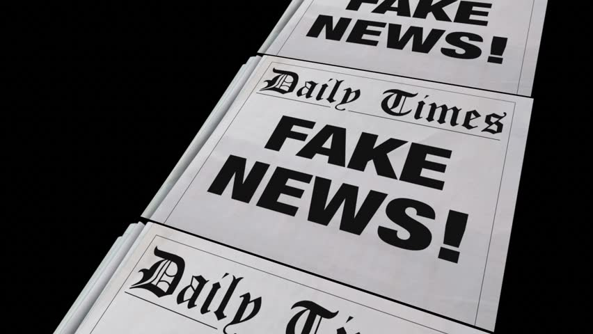 Fake News Lies Newspaper Headline Dishonest Media 3d Animation   Shutterstock HD Video #24352520