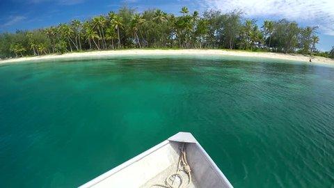 Landscape of The Blue Lagoon on Nanuya Lailai Island one of the Yasawa Islands of Fiji